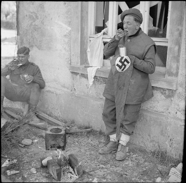 Britische Soldaten in Rethem am 16. April 1945 Foto: Imperial War Museum, Public Domain, wikimedia Commons