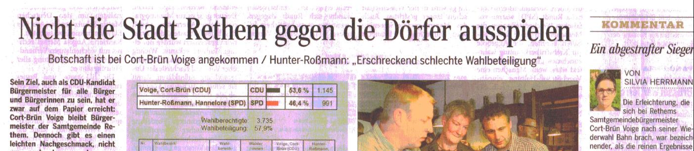 Die 'Walsroder Zeitung' zur Wahl