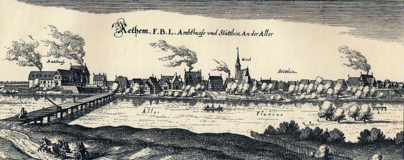 Rethem im späten Mittelalter, Stahlstich