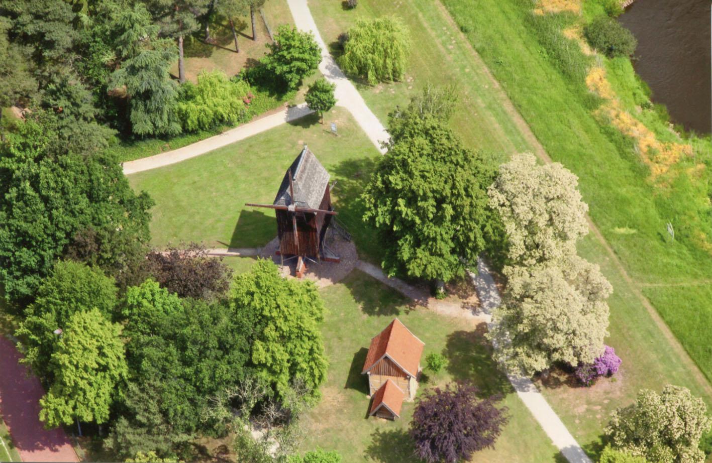 Die Bockwindmühle aus der Luft / Foto: Forum Rethem e.V.