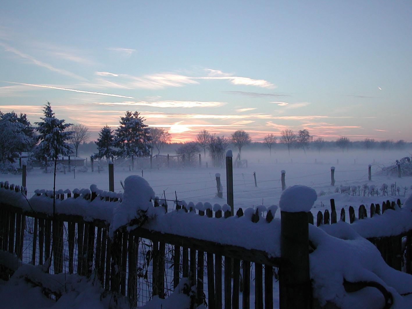 Winterlandschaft in Hedern bei Rethem / Bild: Margret Dannemann-Jarchow