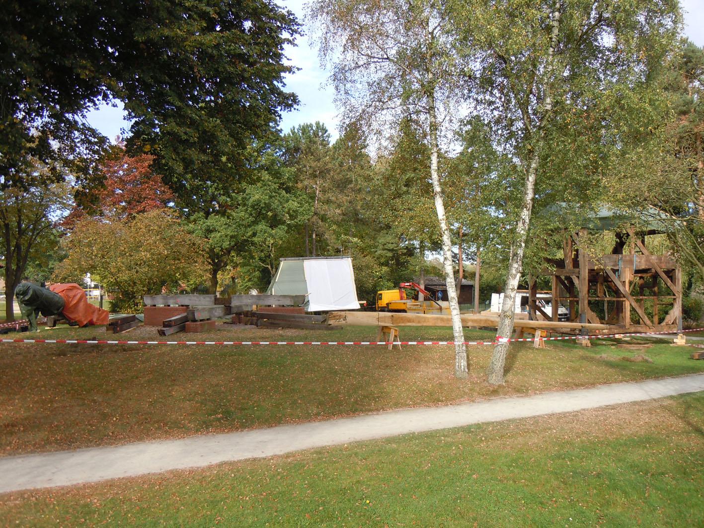 Bockwindmühle als Baukasten / Foto Margret Dannemann-Jarchow