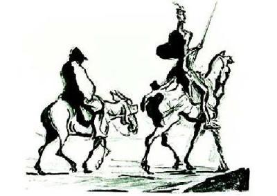 Deichinspektion / Bild Honoré Daumier, Public Domain, wikimedia