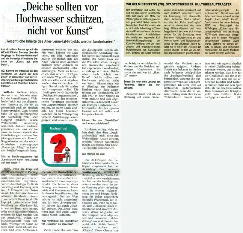 Wilhelm Steffens, WZ v. 4.9.2014