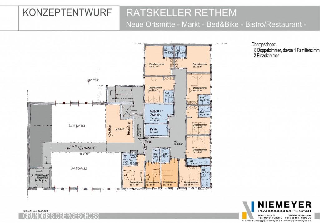 1. Stock: Zimmer fürs 'Fahrrad-Hotel' (es gibt vier weitere Zimmer im Dachgeschoss darüber) / Bild: EGRA