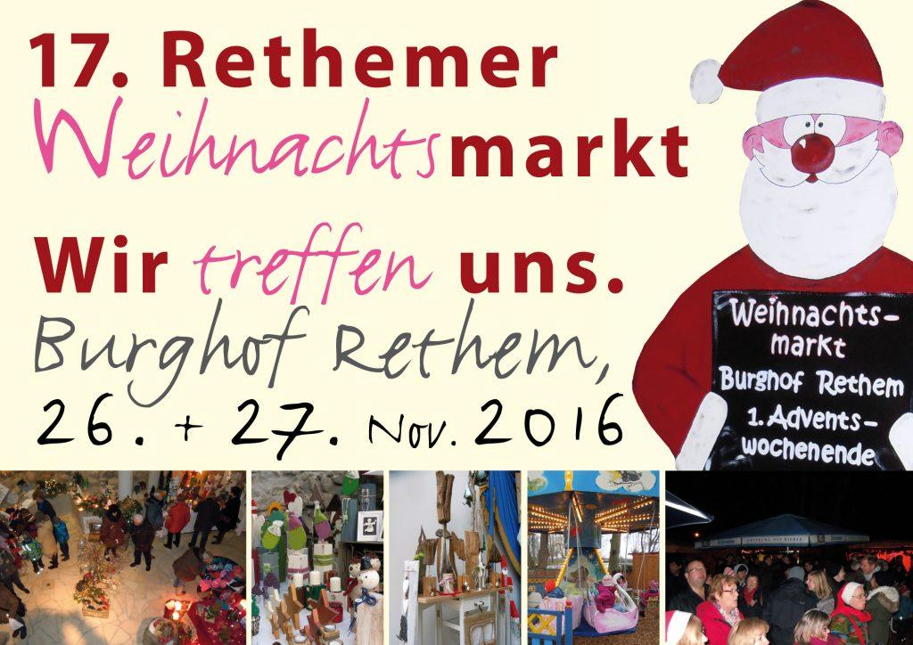 Plakat zum Weihnachtsmarkt. Grafik: Margret Dannemann-Jarchow